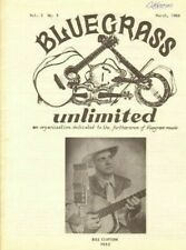 1968 March Bluegrass Unlimited Magazine Back-Issue