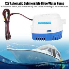 Uk 12V Boat Automatic Submersible Electric Bilge Water Pump With Float Switch