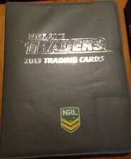 2013 nrl ESP TRADERS FOLDER ALBUM COMPLETE COMMON BASE SET 192 CARDS WITH PAGES