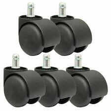Set di 5 TWIN Casters Doppio Sedia ufficio ruote di ricino non contrassegno/gomma 50MM