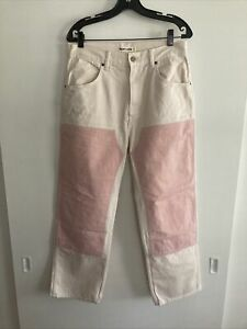 rudy jude utility jeans 4 peach new