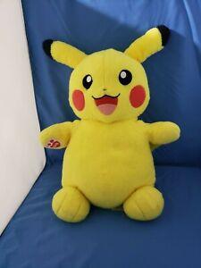 "Pokemon Pikachu Build A Bear 18"" Plush Doll Figure 2016 Nintendo Game Mascot"