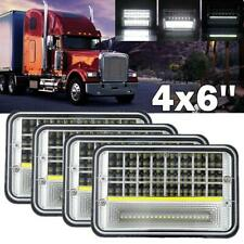 4x 4x6'' LED Headlight Projector For Freightliner Kenworth T400 T600A T800 W900