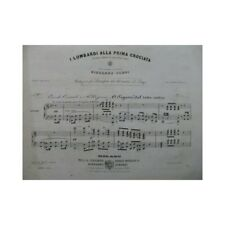 VERDI Giuseppe I Lombardi alla Prima Crociata No 15 Piano 1843 partition sheet m