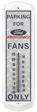 Parking For Ford Fans Only,Ford Racing-Metal Thermometer`Licensed-New->Free 2 US