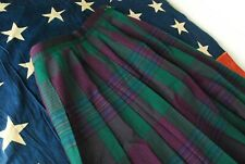 Vintage Pendleton 100% Wool Tartan Plaid Skirt Womens 6 Uniform Long Midi Green