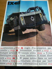 BERLIET TX40 LORRY TRUCK SALES BROCHURE MID 60's FRENCH LANGUAGE