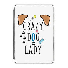 "Crazy Dog Dama Marrón Orejas Funda Para Kindle 6"" E-READER-Cachorro Gracioso"