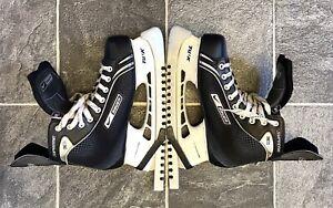 Uk 9.5 Nike Bauer Supreme One 05 Lightspeed Ice Hockey Boots VGC inc Guards 9R