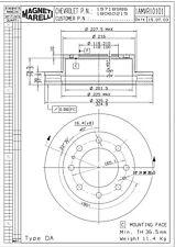 Disc Brake Rotor-Base Front Magneti Marelli 1AMVR10101