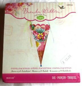 Sizzix Bigz Cone Faceted Die Cut and Embossing - All Proceeds to MacMillan