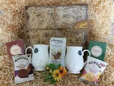 Special Couple Wedding Anniversary New Home Gift Hamper Tea Biscuits China Mugs