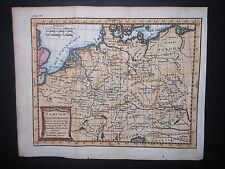Germany L'Empire D'Allemagne 1739 Map Hand Color Bohemia Moravia Bavaria Poland