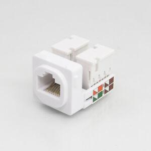 Cat5e RJ45 8P8C unshielded Connector Mech Insert Jack Socket for Clipsal Plates