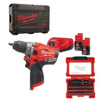 MILWAUKEE M12 FPD-202X Trapano Avvitatore Percussione +2 Batterie 2.0Ah 12V FUEL