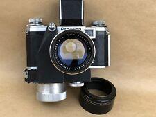 Praktina FX Camera w/ Motor Drive & 135mm F/3.5 Schneider Tele Xenar Lens - NICE