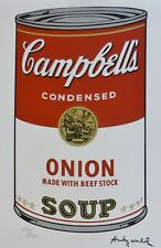 ANDY WARHOL CAMPBELL'S SOUP I ONION SIGNED HAND NUMBERED 2272/3000 LITHOGRAPH