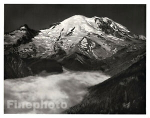 1949 Original ANSEL ADAMS Yosemite Mount Rainer Snow Landscape Photo Art 12X16
