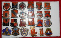 Lot of 24  US  Military Distinctive Unit Insignia DUI Crest #22