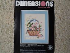 "Dimensions ""Summers Glory Bouquet"" counted cross stitch."