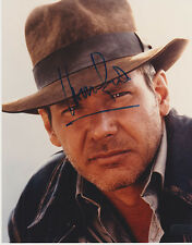 HARRISON FORD~INDIANA JONES  AUTOGRAPHED 8 X 10 COLOR PHOTOGRAPH COA