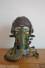 Early Air Force MIG Fighter Pilots Training flight Helmet,Mic,Goggles,Mask Gear