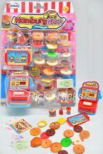 Kids Mini Hamburger Food Set Kitchen Playset Food Truck Accessories Pretend Play