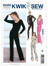 K3052 KWIK SEW 3052 Misses' Full-Length Bodysuits Lingerie Dance Sizes XS-XL*
