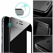 New 3D Black Curved Edge toEdge Tempered glass screen protector For i phone 6/6S