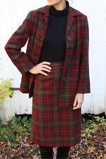 Vintage 1940s 1950s Pendleton Plaid Wool Skirt Jacket Suit Small Medium 40s 50s