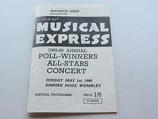 BEATLES REPRO PROGRAMME NEUF MUSICAL EXPRESS 1965-1966 sondage Winners concert