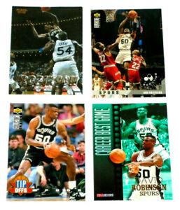 Lot Of 4 David Robinson Baskeball Cards