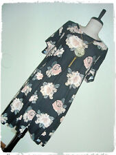 J For Justify Antique Floral Rose A Line Skate Dress With Statement Necklace 2X
