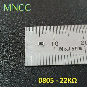 5pc/10pc 0805 22KΩ - 22K Ohm 1/8W 5% SMD Chip Resistors Fixed Resistance 2012