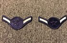 1 PAIR 2 PATCHES 1976-1993 USAF Air Force Rank Patch AIRMAN E-2 E2 BLUE MALE