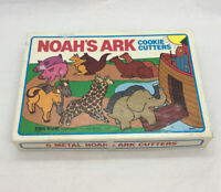 Vintage 1985 Noah's  Ark Cookie Cutters Set Box - METAL 6 Shapes