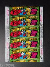 A & B.C. SUPERMAN IN THE JUNGLE 1966 GUM WRAPPER