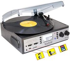 Boytone BT-19DJS-C 3 Speed Turntable Cassette AM/FM Radio Spkr LCD Screen NEW