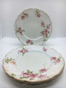 Set Of 4 Vintage Royal Doulton Beautiful Pink Rose Design Tea Side Plates D7""