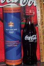 2002 SALT LAKE CITY OLYMPICS SNOWFLAKE  LIMITED ED 2002 COCA COLA BOTTLE & TUBE
