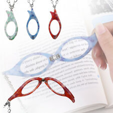 Reading Glasses Readers Resin Lens Reader Folding Necklace Grandma Gift +2.5