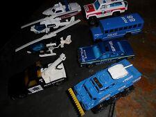 8 LOT MINT MATCHBOX BLUE POLICE TRANSPORT BUS BATTERING RAM SHERIFF TOW TRUCK +