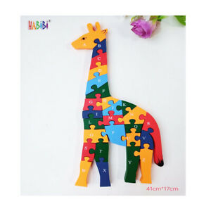 Kids Learning Puzzle Toy Alphabet ABC Numbers 123 wooden jigsaw educational Toy