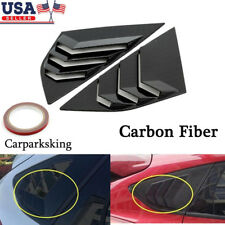 Carbon fiber Abs Window Side Louvers Vent For Ford Focus St Rs Mk3 Hatchback Us (Fits: Ford Focus)