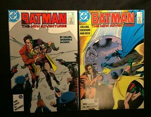 """DC BATMAN  #410-11 Aug/Sept 1987 """"Two of a Kind!"""" and """"Second Chance!"""" 9.0 VF/NM"""