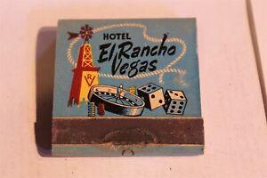 HOTEL EL RANCHO LAS VEGAS NV FULL MATCHBOOK PRINTED STICKS