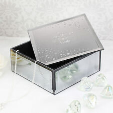 Personalised Engraved Luxury Mirrored Jewellery Trinket Box Valentines Gift