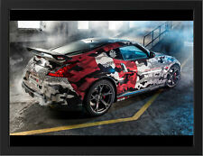 "NISSAN 370Z NISMO REAR A3 FRAMED PHOTOGRAPHIC PRINT 15.7""x11.8"""