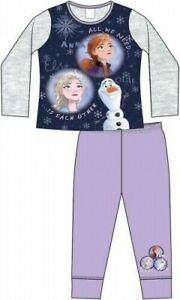 Girls Disney Frozen 2  Pyjamas Anna Elsa Olaf (Blue/Grey) Age 4 to10 years