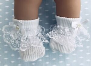 """MY FIRST BABY ANNABELL, TINY TEARS, BERENGUER TYPE DOLL' S  SOCKS. 14""""15""""16"""""""